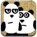 3只可爱小熊猫