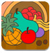 水果聚宝盆填色