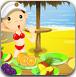 夏日海滩水果
