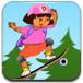 朵拉特技玩滑板