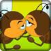 可爱的蜜蜂接吻