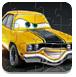 黄色卡通汽车图片拼图
