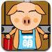 可愛小豬接雞蛋