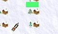 圣诞老人停泊鹿车