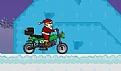圣诞老人骑摩托车