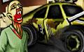 开车疯狂撞僵尸