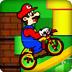 马里奥驾驶特技自行车