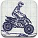 驾驶纸上摩托车