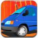 驾驶停靠小型货车