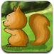 小松鼠吃松子