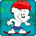 可爱韦斯特玩滑板