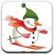 雪人滑雪比赛