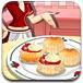可爱莎拉做烤饼