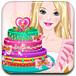 可爱芭比的皇冠蛋糕
