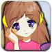 听音乐的可爱女孩