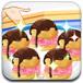 可口的冰淇淋泡芙