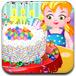 五彩的新年蛋糕