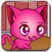 照顾粉色小猫