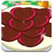 美味的爱心巧克力饼