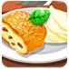 美味的苹果馅卷饼