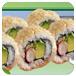 美味的加州寿司卷