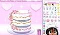 装饰浪漫婚纱蛋糕