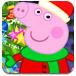 粉红色的小猪装饰圣诞树