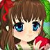 森林苹果树上的女孩
