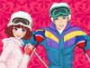 莎拉与男友滑雪